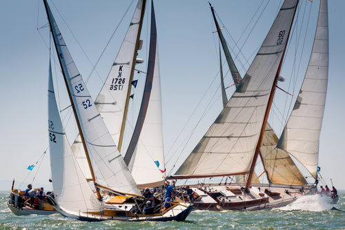 CHAMPAGNE SAILING ON DAY THREE OF PANERAI BRITISH CLASSIC WEEK